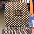 Best LV Louis Vuitton Universal Auto Car Seat Cover Sets Cotton Velvet 10pcs - Brown