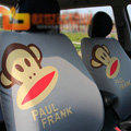 Cute Paul Frank Cartoon Universal Auto Car Seat Cover Sets Cotton Cloth 10pcs - Gray