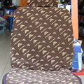 Funky LV Louis Vuitton Universal Auto Car Seat Cover Sets Cotton Velvet 10pcs - Brown