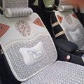 High Quality Chrome Hearts Summer Ice Silk Universal Autos Car Seat Covers - Silver