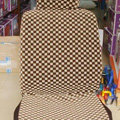 Luxury LV Louis Vuitton Universal Auto Car Seat Cover Sets Cotton Velvet 10pcs - Brown