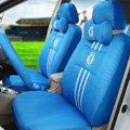 OULILAI Chelsea Football Universal Automobile Car Seat Cover Sandwich 18pcs - Blue
