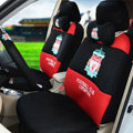 OULILAI Liverpool Football Universal Automobile Car Seat Cover Sandwich 18pcs - Black