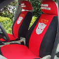 Personalised Transformers Autobot Universal Cotton Cloth Auto Car Seat Cover 10pcs Sets - Red