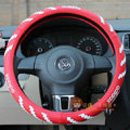 Sports Adidas Green Rubber Rubber Auto Car Steering Wheel Covers 15 inch 38CM - Red