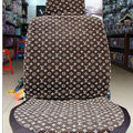 Unique LV Louis Vuitton Universal Auto Car Seat Cover Sets Cotton Velvet 10pcs - Brown