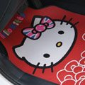 British Flag Hello Kitty Rose Flower Universal Automobile Carpet Car Floor Mats Rubber 5pcs Sets - Red
