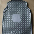 Classic Apple iPod Cute Universal Automotive Carpet Car Floor Mats Rubber 5pcs Sets - Gray
