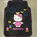 Classic Hello Kitty Bear Cartoon Universal Automotive Carpet Car Floor Mats Rubber 5pcs Sets - Pink