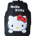 Classic Hello Kitty Cartoon Cute Universal Auto Carpet Car Floor Mats Rubber 5pcs Sets - Black