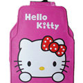 Classic Hello Kitty Cartoon Cute Universal Auto Carpet Car Floor Mats Rubber 5pcs Sets - Pink