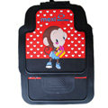 Classic Mexi Monkey Cartoon Cute Universal Auto Carpet Car Floor Mats Rubber 5pcs Sets - Red