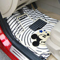 Classic Mickey Mouse Cartoon Disney Universal Auto Carpet Car Floor Mats Rubber 5pcs Sets - White