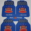 Classic Paul Frank Air Force Universal Automotive Carpet Car Floor Mats Rubber 5pcs Sets - Blue