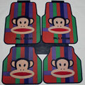 Classic Paul Frank Cartoon Universal Automobile Carpet Car Floor Mats Rubber 5pcs Sets - Green