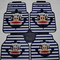 Classic Paul Frank Navy Universal Automotive Carpet Car Floor Mats Rubber 5pcs Sets - Blue