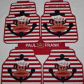 Classic Paul Frank Navy Universal Automotive Carpet Car Floor Mats Rubber 5pcs Sets - Red