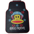 Cool Paul Frank Air Force Universal Automotive Carpet Car Floor Mats Rubber 5pcs Sets - Black