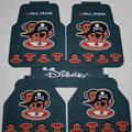 Cool Paul Frank Skull Universal Automotive Carpet Car Floor Mats Rubber 5pcs Sets - Green