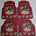 Cool Paul Frank Skull Universal Automotive Carpet Car Floor Mats Rubber 5pcs Sets - Red
