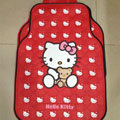 Cute Hello Kitty Cartoon Bear Universal Automobile Carpet Car Floor Mats Rubber 5pcs Sets - Red