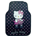 Cute Hello Kitty Cartoon Star Universal Automobile Carpet Car Floor Mats Rubber 5pcs Sets - Pink