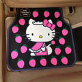 Cute Hello Kitty Cartoon Strawberry Universal Automobile Carpet Car Floor Mats Rubber 5pcs Sets - Pink