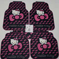 Cute Hello Kitty Cartoon Universal Automobile Carpet Car Floor Mats Rubber 5pcs Sets - Pink