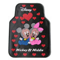 Cute Mickey Minnie Mouse Cartoon Disney Universal Auto Carpet Car Floor Mats Rubber 5pcs Sets - Red