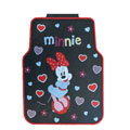 Cute Minnie Mouse Cartoon Universal Automotive Carpet Car Floor Mats Rubber 5pcs Sets - Black