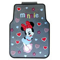 Cute Minnie Mouse Cartoon Universal Automotive Carpet Car Floor Mats Rubber 5pcs Sets - Coffee