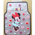 Cute Minnie Mouse Cartoon Universal Automotive Carpet Car Floor Mats Rubber 5pcs Sets - Transparent