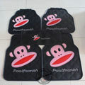 Cute Paul Frank Cartoon Universal Automotive Carpet Car Floor Mats Rubber 5pcs Sets - Black