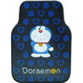 Doraemon Universal Automobile Carpet Car Floor Mat Rubber Heart 5pcs Sets - Blue