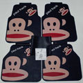 Elegant Paul Frank Cartoon Universal Automotive Carpet Car Floor Mats Rubber 5pcs Sets - Black