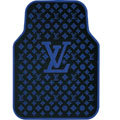 High Quality LV Louis Vuitton Classic Universal Auto Carpet Car Floor Mats Rubber 5pcs Sets - Blue