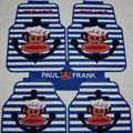 High Quality Paul Frank Navy Universal Automotive Carpet Car Floor Mats Rubber 5pcs Sets - Blue