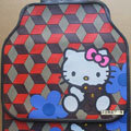 Inexpensive Hello Kitty Bear Square Universal Auto Carpet Car Floor Mats Rubber 5pcs Sets - Red