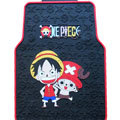 One Piece Monkey D Luffy Cartoon Universal Automotive Carpet Car Floor Mats Rubber 5pcs Sets - Black