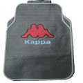 Personalised Kappa Sprots Pretty Universal Auto Carpet Car Floor Mats Rubber 5pcs Sets - Gray