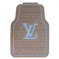 Personalized LV Louis Vuitton Unique Universal Auto Carpet Car Floor Mats Rubber 5pcs Sets - Brown