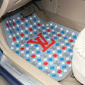 Personalized LV Louis Vuitton Unique Universal Auto Carpet Car Floor Mats Rubber 5pcs Sets - Grey