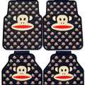 Pretty Paul Frank Cartoon Universal Automobile Carpet Car Floor Mats Rubber 5pcs Sets - Black