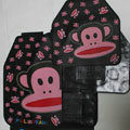 Pretty Paul Frank Cartoon Universal Automotive Carpet Car Floor Mats Rubber 5pcs Sets - Black