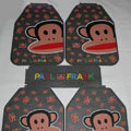 Pretty Paul Frank Cartoon Universal Automotive Carpet Car Floor Mats Rubber 5pcs Sets - Gray