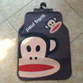 Single Paul Frank Cartoon Universal Automotive Carpet Car Floor Mats Rubber 5pcs Sets - Brown