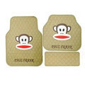 Unique Paul Frank Cartoon Universal Automotive Carpet Car Floor Mats Rubber 5pcs Sets - Beige