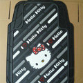 Brand Hello Kitty Cartoon Unique Universal Auto Carpet Car Floor Mats Rubber 5pcs Sets - Black