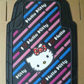 Brand Hello Kitty Cartoon Unique Universal Auto Carpet Car Floor Mats Rubber 5pcs Sets - Pink