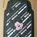 Brand Mickey Mouse Cartoon Unique Universal Auto Carpet Car Floor Mats Rubber 5pcs Sets - Black